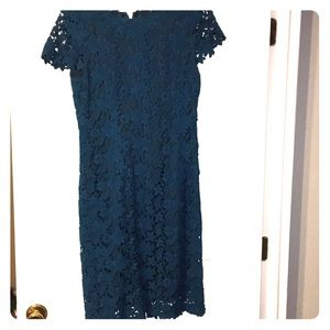Elie Tahari blue lace floral dress